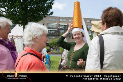 middeleeuwse kleding - Oudenhofmarkt 2014