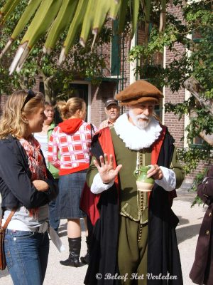 William Brewster talking to public.