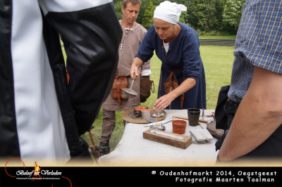 tin gieten - Oudenhofmarkt 2014