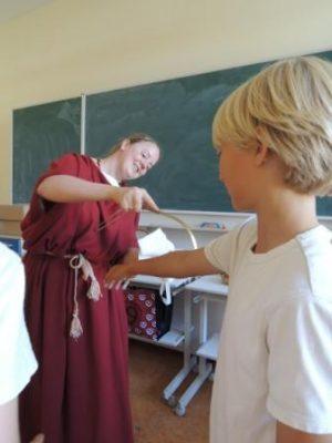 Romeinse massage met strigilis