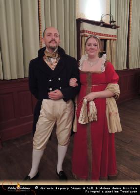 Juffrouw Hodshon met een Fransman aan haar zijde