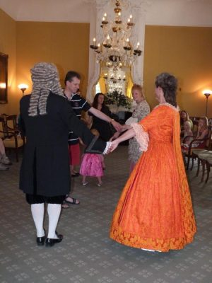 Historical dancing lesson