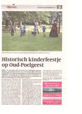krantenbericht historisch kinderfeestje