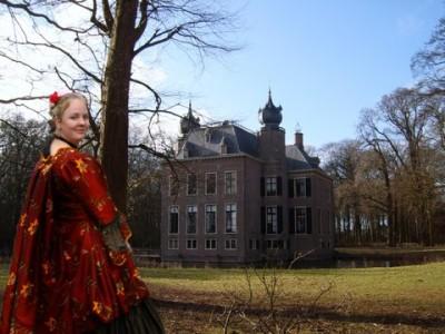 historisch kinderfeestje kasteel Oud Poelgeest